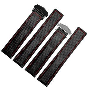20mm 22mm Carbon-Faser-Leder-Uhrenarmband-Bands gemacht für Tag Heuer Carrera Calibre