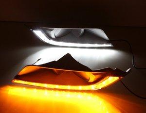 Auto lampeggiante per Ford Ranger Wildtrak 2015 2016 LED DRL Luce corrente di giorno Daylight testa della nebbia sua volta di colore giallo della lampada