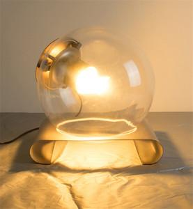 Claro moderna mesa de cristal Lámparas del arte en la tabla bola globo ligero Lámpara de escritorio para el dormitorio junto a la Sala de ojos Iluminación para el hogar TA008
