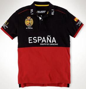 Men Casual Polo Shirt Big Pony Sport Tees nautica Racing Polos ITALIA Brazil Spain Argentina Germany UAE United States United Kingdom France