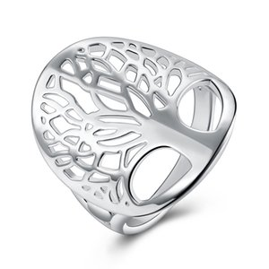 wholesale Price cute women silver Color Ring tree Life charms wedding jewelry girl high quality fashion classic jewelry R891
