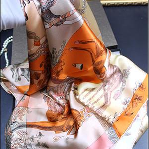 2019 Nueva Real de seda de lujo bufandas para mujeres tamaño grande bufandas Mujer Mujer encubrimiento musulmán Hijabs envuelve pañuelo multifunción bufanda Fe