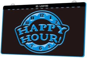 On Demand LS0190 Happy Hour Beer Bar Pub Club New 3D Gravür LED Işık İşaret Özelleştirme Çoklu Renk