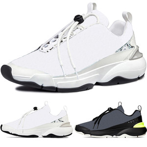 New High Quality B24 Men's Oblique Cannage Motif White Trainers Running Shoes Fashion Women Sneakers French B22 B23 US12 EUR 46