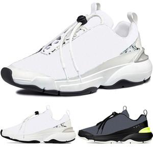 Oblique Cannage Motif Branco Formadores de Homens B24 New alta qualidade Running Shoes Fashion Women Sneakers Francês B22 B23 US12 EUR 46