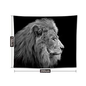 Ins Popular Home Decor Poliéster 200 * 148 cm Tapeçarias Sala de estar Quarto Decoração Murais de Impressão Animal Abacaxi Tapeçaria DH0939-1