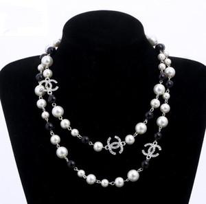 colliers de perles pour les femmes long collier de conception de haute qualité pull bijoux de luxe de mariage pour le meilleur cadeau