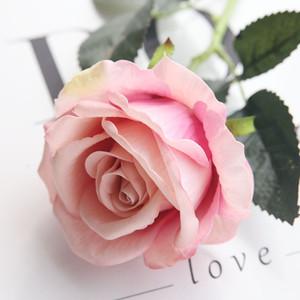 꽃을 들고 웨딩 용품 제조업체는 높은 시뮬레이션 단일 플란넬 플란넬 홈 장식 장미