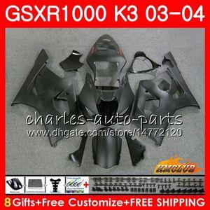 Рамка для Suzuki GSX-R1000 GSXR 1000 GSXR1000 Matte Black 03 04 Body 15HC.97 Кузов GSX R1000 K3 GSXR-1000 03 04 2003 2004 Комплект