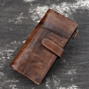 BAOERSEN cuir Mode Brochage long Wallet Casual multi-cartes Bit bourse New Retro RIFD Portefeuilles d'homme s