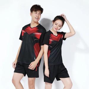 Tennis Serve Anzug Männer und Frauen kurze Hülsen-Sportbekleidung Freizeit Badminton Tischtennis Jersey