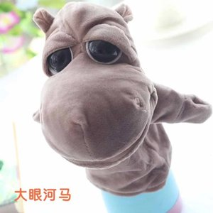 Plush animal hand puppet toy, children's belly language performance gloves puppet animal finger doll.31 kinds of styles, mixed wholesale!