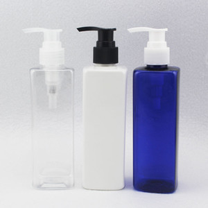28 X 250ML Empty Square Shampoo Container Lotion Cream Pump Bottle Cosmetic Packaging Containers With Lotion Pump
