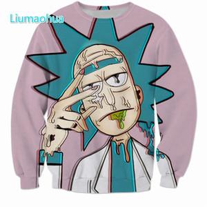 Nuovo fumetto Rick e Morty felpate Uomini Donne Streetwear Hipster Pullover divertente scienziato Rick 3d Felpa con stampa cime