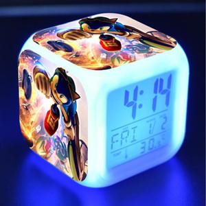سونيك القنفذ عمل أرقام الصمام 7 ألوان تغيير مسة خفيفة المنبه مكتب ووتش بنين لعب # 3778