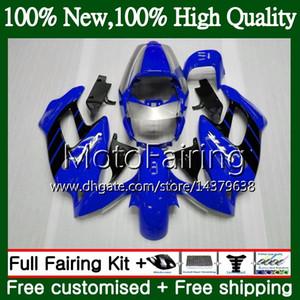 Glänzend blaue Karosserien für HONDA SuperHawk VTR1000F 97 98 99 00 01 64MF1 VTR1000 F VTR 1000 F 1000 F 1997 1998 1999 2000 Verkleidung Karosserie