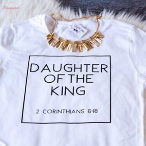 Christian T Shirts Women Daughter Of The King Letter Print Cotton Cute Christian Tshirt Womens Jesus Shirt Harajuku Tops