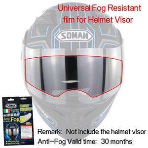 Anti-Fog Kask Lens Film Evrensel Motosiklet Kaskı Visor Sis Dirençli Film 4