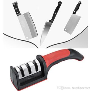 Cuchillo Muela hogar Grueso Fino Piedra de afilar Lentes de contacto de aleación dura de cerámica afilador de cuchillos con mango de herramienta de la cocina antes de Cristo BH1021-2