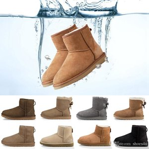 2019 New winter Australia Classic snow Boots good fashion WGG tall boots real leather Bailey Bowknot women's bailey bow Knee Boots mens shoe