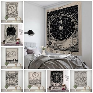 Ev Dekoru HHA1176 Asma 150 * 100cm Tarot Kartı Goblen Astroloji Sun Moon printting Goblen Yoga Plaj Minderi Polyester Duvar