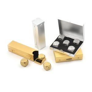 silvergolden aluminium alloy poker solid dominoes metal dice game portable dice poker party 5 pcs body shapewear