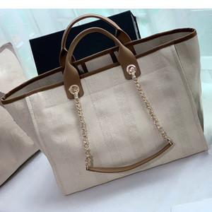 2020 Женщины роскошных сумок хозяйственных сумок высшего качество модельера кошелек плечо сумка бренд цепь Большой тотализатор мешок пляж