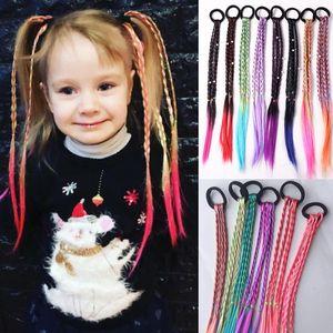tyling Tools & Appliances Braiders Simple Kid Elastic Hair Band Rubber Band Hair Accessories Kids Wig Headband Girls Twist Braid Rope...