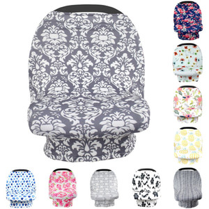 15547 Florals Stretchy Car Seat Cover Infant Baby Carseat Canopy Privacy Nursing Cover Breastfeeding Cover