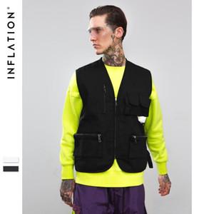 Streetwear Taktik Yelek Hip Hop Kolsuz Yelekler Erkekler Cepler Ile Kargo Yelek Askeri Ceket Yelek Yeni Ünlü