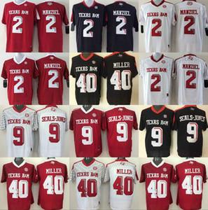 Johnny Manziel Jersey Texas AM Aggies College Camisetas de fútbol 9 Ricky Seals-Jones 40 Von Miller Camisetas de fútbol de la Universidad NCAA