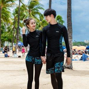 roupas medusas divisão mergulho natação terno de surf 2019 amantes protetor solar de mangas compridas calças diving suit