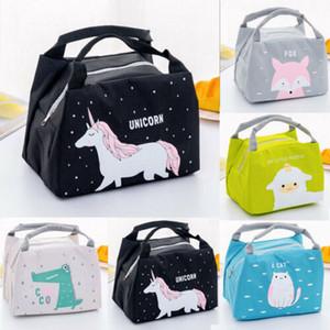 Borse Unicorn portatile Lunch Bag vetrature Lunch Box Tote Cooler Bag Bento Pouch contenitore del pranzo School Food bagagli