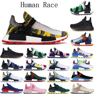 2021 NMD Human Race Hombre Shoes Running Shoes Hu Pharrell Williams Sample Pack Solar Black Sport Designer Mujeres Entrenadores Sneakers Tamaño 36-47