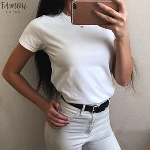 Men Amp; Women Couples T Shirt Basic Stretch Short Sleeve Women Top Tees Round Neck Casual Blose Solid Color Daily Tshirt Yj