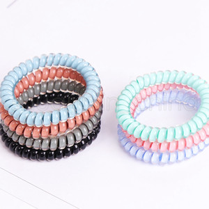 Telephone Wire Cord Headband Women Candy Colors Elastic Hair Rubber Bands Girl Hair Ties Baby Party Hair Accessories TTA1202-14