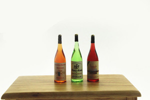 1: 6 Ölçekli Şampanya Kırmızı Şarap İçecek Dollhouse Minyatür Oyuncak Bebek Gıda Mutfak Oturma Odası Aksesuarları