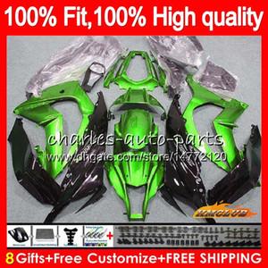 Впрыск для KAWASAKI ZX 10 R ZX1000 C ZX10R 11 12 13 14 15 46HC.14 ZX 10R 1000CC ZX-10R 2011 2012 2013 2014 2015 глянцевый зеленый OEM-обтекатель