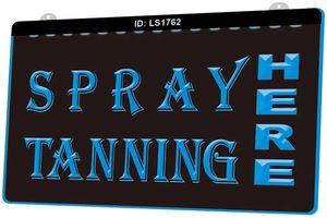 LS1762 Spray Tanning Shop-Köder Neues 3D-Gravur LED-Licht anpassen Sign-on-Demand Multiple Color