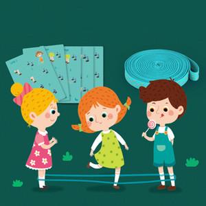 Freies Verschiffen-Kind-elastische Gummispringseil Spielzeug-Spiel im Freien Primary School Student Jump Gummiband Kraft Viele Menschen Jump Rope Toy