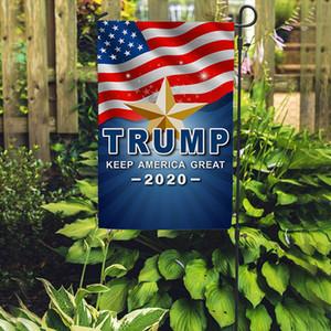 Trump 2020 Сад Флаги Trump Выборы 30x45cm Сад Баннеры Открытого украшение Keep America Great American Flag Garden Flag BH3721 такой анкета