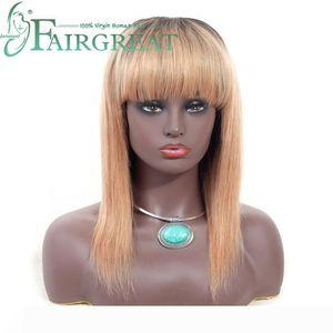Brazilian Indian Mongolian Straight Human Hair Wigs with Baby Hair Brazilian Remy Human Hair Wigs For Women