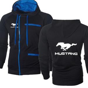 Jacket Men Ford Mustang Auto-Logo Sweatshirt Mode-Frühlings-Herbst Fleece Cotton Zipper Hoodies HipHop Harajuku Männlich Kleidung