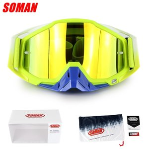 SOMAN SM11 Cross Field Glasses Dirt Bike Gozluk ATV Casque Okulary Moto Bike Motorcycle Cycling Goggles Gafas Y200616