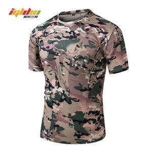 Igldsi Hommes D'été Tactique Nouveau O-cou À Manches Courtes En Coton Hommes Casual T Shirt Camouflage Armée T-shirts Militaires C19041303
