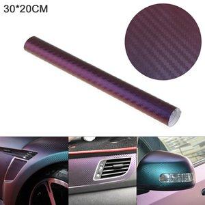5PCS 30 X 20cm PVC 3D Carbon Fiber Blue   Purple Discolor Automobile Decoration Modification Sticker Fit for Car   Motorcycle CEA_38F