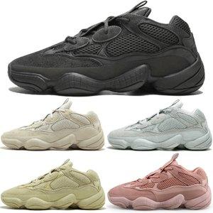 Kanye West 500 Desert Rat Blush 500s Salt Super Moon Yellow 3M Utility Черный Розовый мужская кроссовки для мужчин Женщины спортивные кроссовки дизайнер