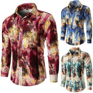 Hirigin Мужские рубашки 2018 года с длинным рукавом Мужские рубашки платья New Printed Visceral Стиль 3D рубашка Мужская одежда Мода Streetwear Весёлые