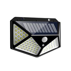 100 LED Güneş Işık Açık Su Geçirmez 4-Side Güneş Işığı Powered Lambası PIR Bahçe Dekor Için PIR Sensörü Duvar Işık