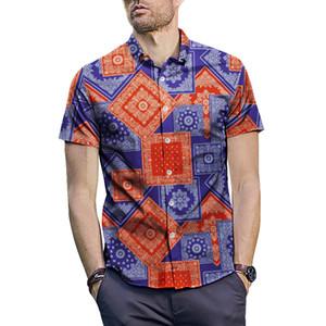 ONSEME Mais recente Bandana padrão impresso camisas dos homens fresco Hip Hop cobre a camisa Paisley macho 3D Hipster Streetwear Tees Drop Ship